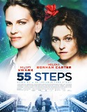 Poster for the movie 55 Steps. It show a close up photo of the actresses who play Eleanor Riese and Colette Hughes.