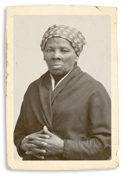 A old portrait of Harriet Tubman.