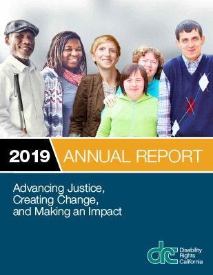 Cover of 2019 DRC Annual Report showing a group of people with different disabilities.