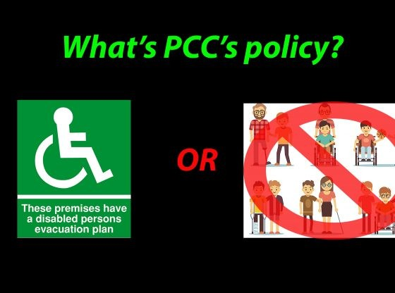 "Image asking ""What's PCC's policy?"""