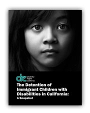 Image of the cover of the report. It shows Closeup of the face of a young latino girl. She has a very sad look on her face.