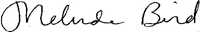 Melinda Bird signature