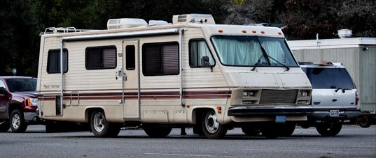 Photo of a RV parked in a lot
