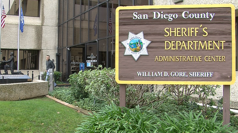 Photo of front entrance to SD County Sheriff's Department