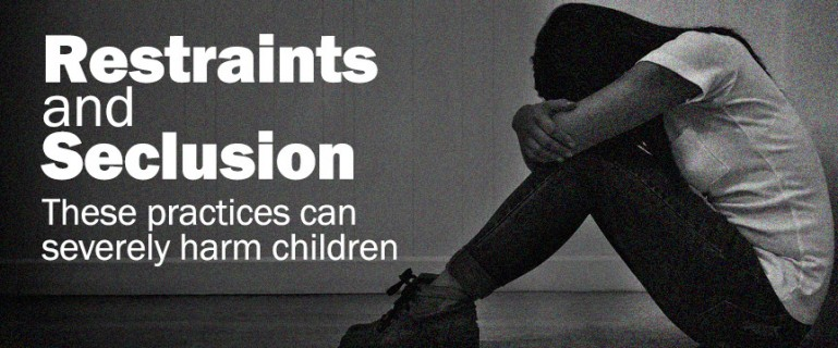 Restraints and Seclusion: These practices can severely harm children - Photo of a young girl sitting alone in a room with her face in knees
