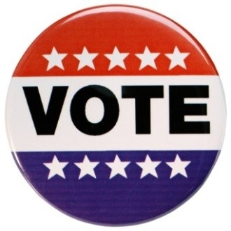 Image of a voting pin.